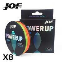 JOF POWERUP Super fort 300 M 8 brins tisse PE tressé ligne de pêche corde Multifilament 20LB 30LB 40LB 50LB 70LB 80LB 100LB