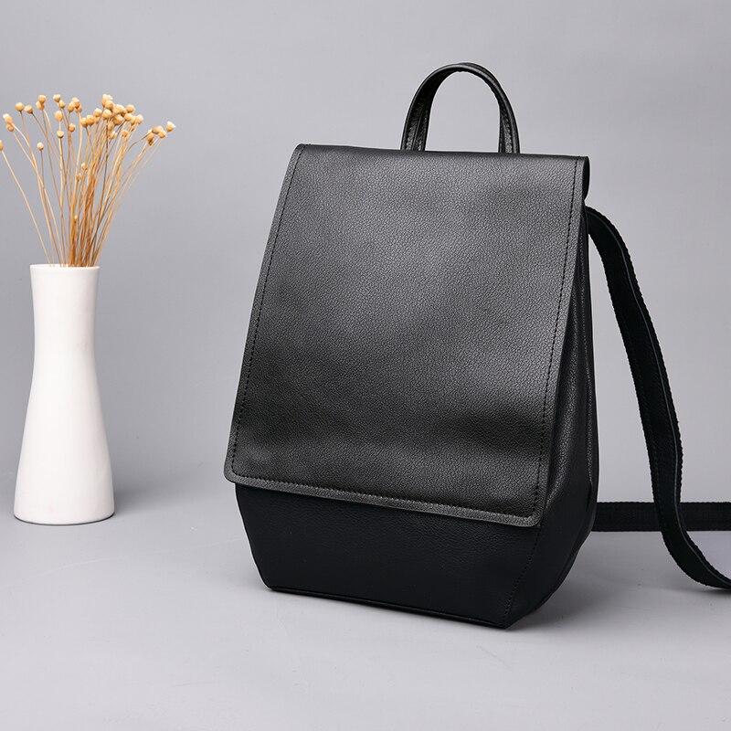 Mode homme sacs à dos en cuir véritable affaires décontracté hommes sacs à bandoulière voyage sac à dos pour femmes sacs d'école pour filles garçons - 6
