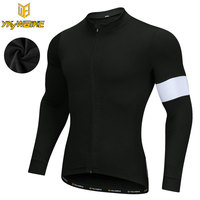YKYWBIKE 2017 MTB Men Winter Thermal Fleece Cycling Jersey Ciclismo Ropa Bicycle Long Sleeve Sportswear Maillot