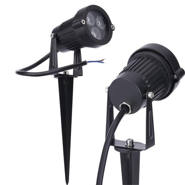 DC12V 24V LED Lawn Lamps Landscape Light 9W 110V 220V Waterproof Outdoor Garden Light Warm White Spike LED Path Lights