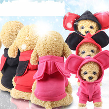 Ropa de invierno cálida con capucha para perro mascota, suéter para perros de dibujos animados de oreja grande para cachorro, Chihuahua, abrigos, chaquetas, ropa para mascotas XS-XXL