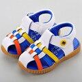 Nueva llegada de la moda de verano para niños sandalias de punta-bingding niños ligeros zapatos antideslizantes niños sandalias LT1105