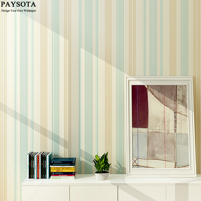 PAYSOTA 10M Roll Wide Stripe Wallpaper Simple Cross