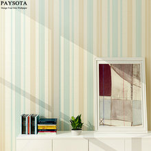 PAYSOTA Modern Vertical Stripes Wallpaper Bedroom Living Room Dining-room Film And TV Setting Background Non-woven Wall Paper