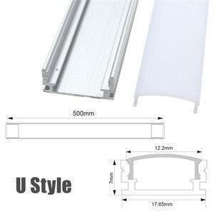 Image 3 - 30/50cm LED בר אורות אלומיניום ערוץ מחזיק חלב כיסוי בסופו תאורת אביזרי U/V/ י. ו. סגנון בצורת עבור LED רצועת אור