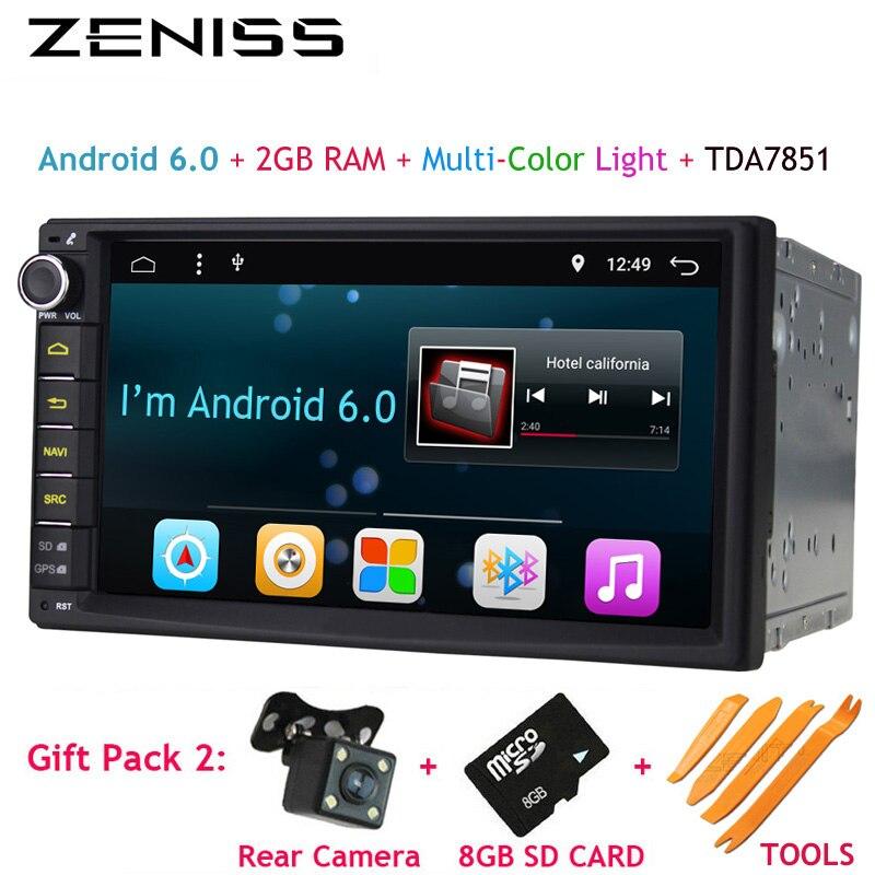 imágenes para Envío libre Android 7 ''Doble Din GPS de Radio de Coche Universal sin dvd Audio del coche 2 din 7 pulgadas Estéreo del coche 2 GB RAM Navi 707