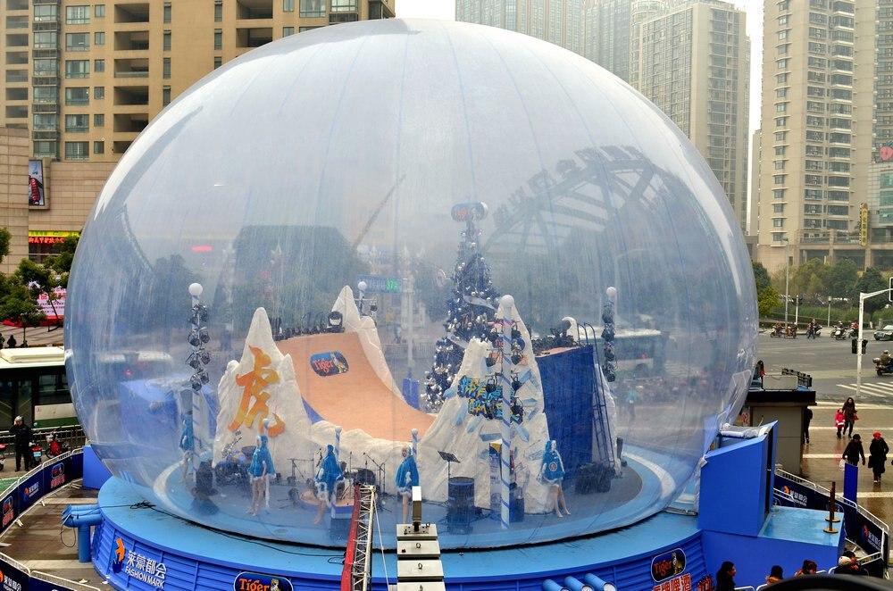 Klar Dekorieren Aufblasbare Schneekugel Weihnachten Kunststoffkugeln ...