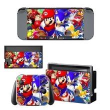 Mario Decal Nintendo Switch NS Console + Joy-Con Controller + Dock Station