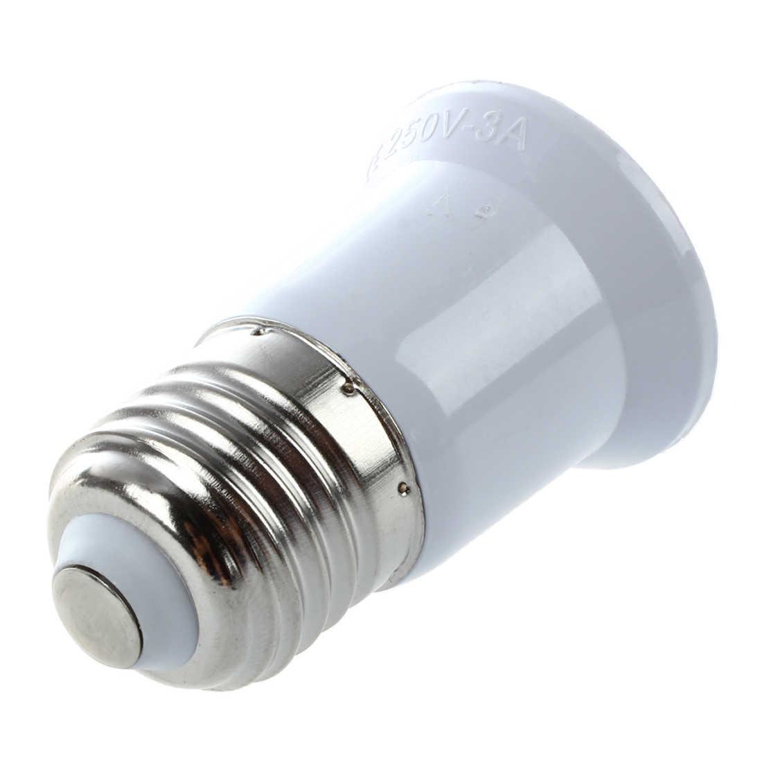 E27 do E27 uchwyt żarówki srebrny Tone biały przedłużacz adaptera