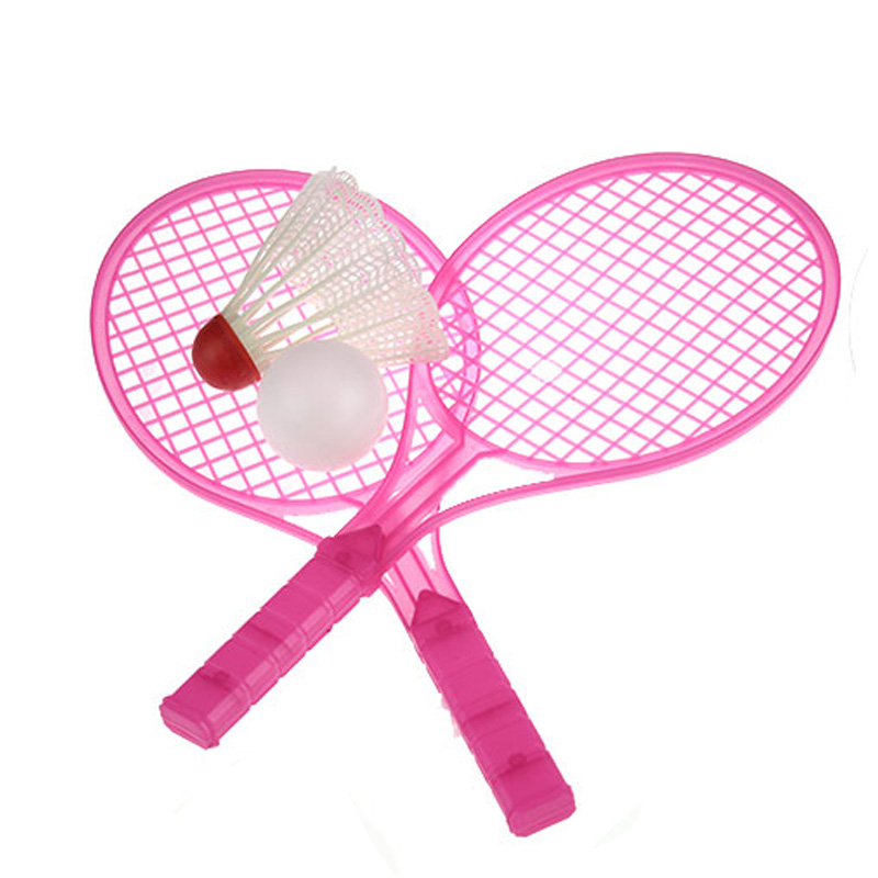 1 Set Novelty Child Dual Badminton Tennis Racket Baby Sports Parent Child Sports Bed Toy