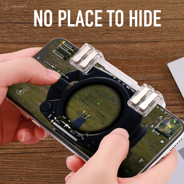 Sovawin Pubg Mobile Controller L1 R1 Phone Gamepad Trigger Fire Button Aim Key l1r1 Shooter Pubg Controller For iphone Android