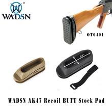 WADSN กันกระแทกยางยุทธวิธี AK สต็อก PAD Paintball Airsoft Recoil BUTT Pad Softair ปืนไรเฟิลการล่าสัตว์อุปกรณ์เสริม WOT0401