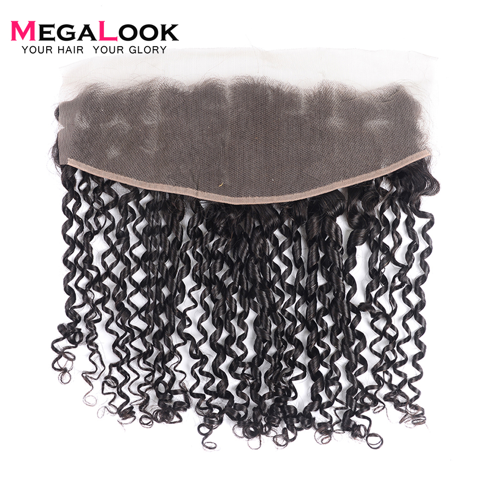 Megalook Super Double Drawn Pissy Curl Bundles with Lace Frontal 6