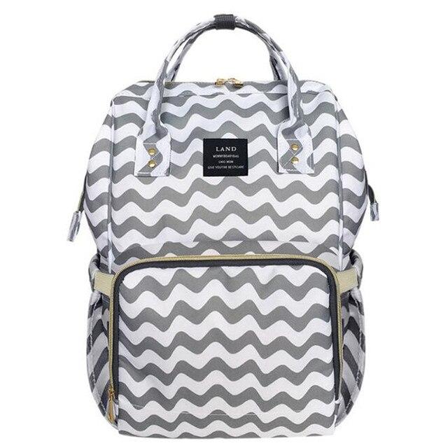 b3a9c6133ee LAND 2018 Diaper Bag Mummy Maternity Nappy Bag Brand Large Capacity Baby Bag  Travel Backpack Desiger Nursing Bag for Baby Care