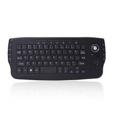 Мини 2.4 г беспроводная клавиатура с трекболом небесно-белка ручной тачпад Gaming Keyboard для mart TV Box Android-смартфон