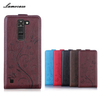 5 Patterns Luxury Retro Vertical Flip Leather Case For LG K8 4G LTE K350N PU Leather