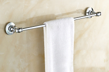 Wall Mounted Polished Chrome Brass Bathroom Single Towel Bar Towel Rail Holder Bathroom Accessory mba803 стоимость