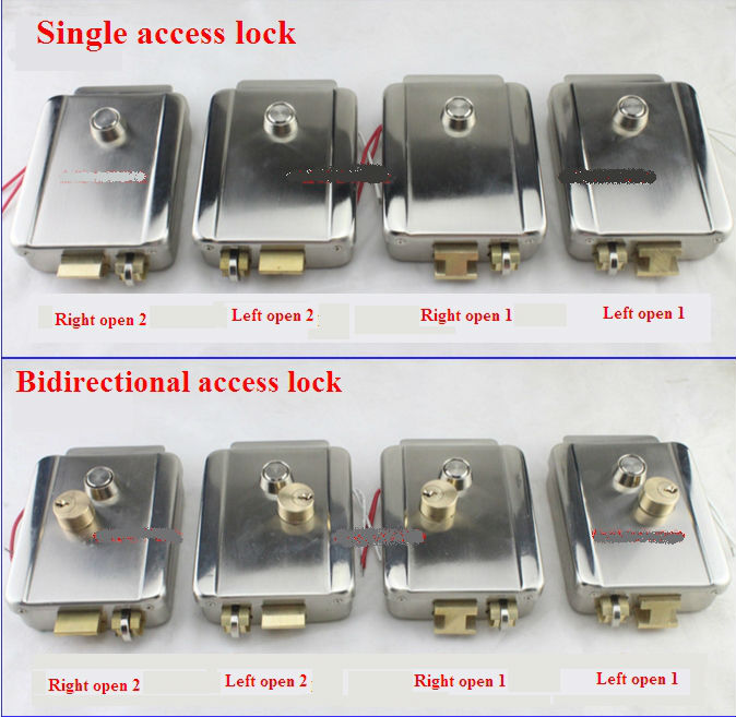 Electric Rim Lock 12VDC Electronic Lock For Home Wired Video Intercom Security System