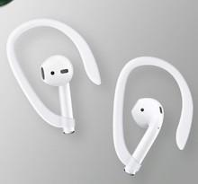 50 ペア保護 earhooks 安全なフィットフックため airpods apple ワイヤレスイヤホンアクセサリーシリコーンスポーツ抗ロスト耳フック