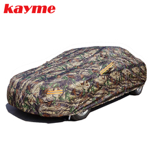 kayme polyester pp cotton thicken Camouflage Universal full Car Covers Styling waterproof sun Protection Dustproof cover for car