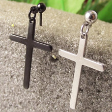 2 шт 2019 крест из нержавеющей стали Серьги Козелок Уха пирсинг