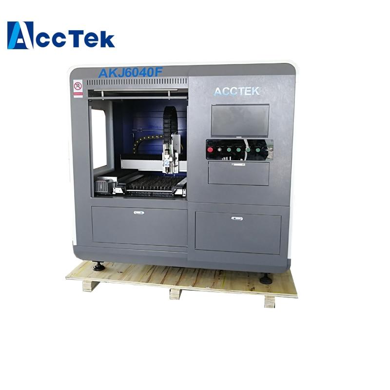 Copper Fiber Laser Cutting Machine 1kw 2kw Raycus Laser Generator Cypcut Laser Control System Jinan AccTek Manufacture Price