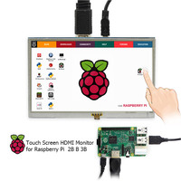 Elecrow 5 Inch HDMI LCD Touch Screen Raspberry Pi 3 Display HD Interface 800x480 5inch RPI TFT Monitor for Raspberry Pi 3 2B B+