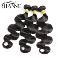 HANNE Hair Brazilian Body Wave Hair Weave Bundles Natural Color 3PCS 100% Human Hair Weaving 8 26 Inch Remy Hair Extension