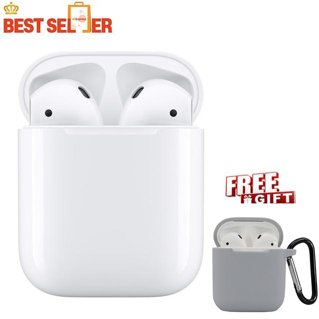 Oryginalny Apple AirPods 1st bezprzewodowy używany, takich jak nowy Bluetooth słuchawki do iPhone'a Xs Max XR 7 8 Plus iPad MacBook Apple Watch