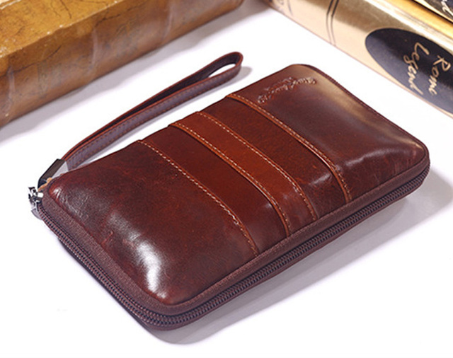 New Men's Genuine Leather Cowhide Cell Mobile/Phone Case Cover Belt Hip Fanny Bag Waist Pack Clutch Purse Father Christmas Gift