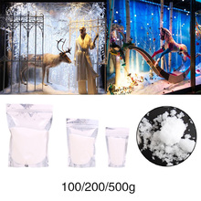 Stage Artificial Snowflakes Fake Snow 100g/200g/500g Absorbent Resin DIY Props Party Supplies Magical Christmas Decor Winter