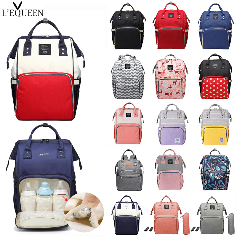 2019 LEQUEEN Baby Diaper Bag Large Capacity Waterproof Nappy Bag Kits Mummy Maternity Travel Backpack Nursing Handbag For MOM