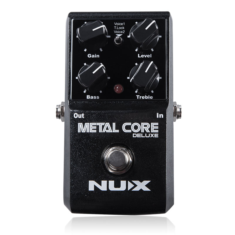 NUX Metal Core Distortion Effect Pedal True Bypass Guitar Effects Pedal 2 Band EQ Tone Lock