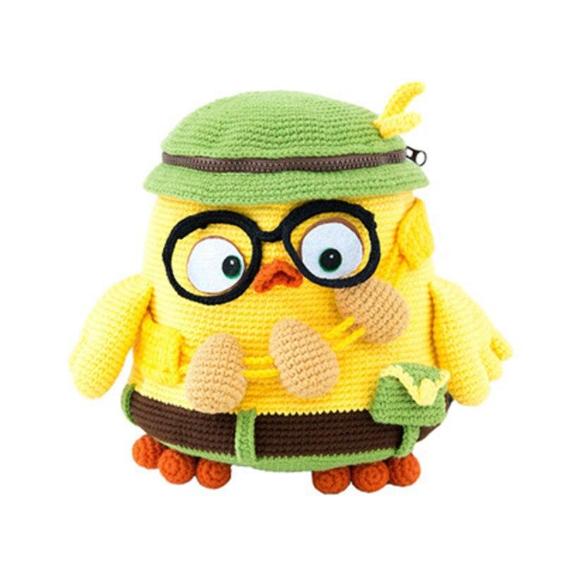 Nuovo Mamma Fatto A Mano Tridimensionale Animale Zaino A Mano Fai Da Te Crochet Di Lavoro A Maglia Bambini Zainetto Del Bambino Palla Di Lana Sacchetto Di Materiale Vincere Elogi Calorosi Dai Clienti