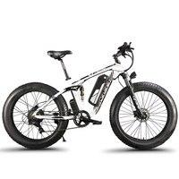 Cyrusher XF800 Электрический велосипед двойная подвеска 7 скоростей, шина электронного велосипеда, 1000 Вт 48 В, умный компьютер Спидометр Электричес