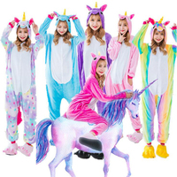 Unicorn Kigurumi Onesie Pajamas Adult Overalls Women Animal Cosplay Party Suit Blue Purple Pink Rainbow Fashion