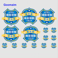 цена на 300pcs Polychrome printing thermal transfer labels iron on clothes custom brand label for clothing thermal transfer label