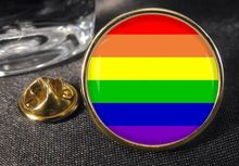 High quality Rainbow Flag  Button Badge Gay Pride LGBT low price custom lapel pin FH680021