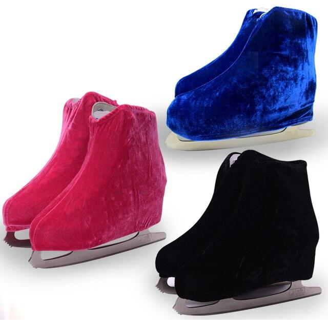 1 pair Ice Skating Figure Skating Shoes Velvet Cover Roller Skate Anti Dirty Flannelette Elastic For Kids Adult Anti Grinding 5
