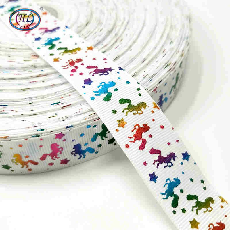 Рождественская лента Hl 5 ярдов 25 мм горячее тиснение корсажные ленты Свадебные украшения Швейное Ремесло «сделай сам» для изготовления бантов для волос - Color: white