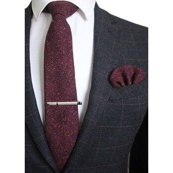 Gammy Wool Hand Made Tie Set – Burgundy