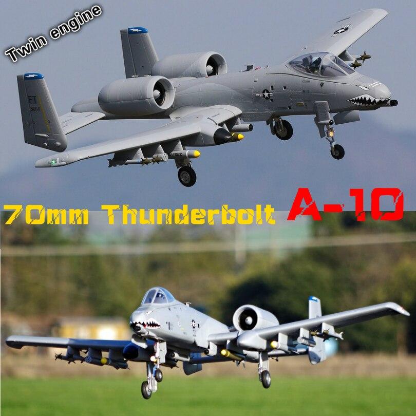 FMS 70mm Ventilateur Soufflant EDF Jet A-10 A10 Thunderbolt II Double Moteur 6CH 6 S EPO PNP RC modèle d'avion passe-temps Avion Avion Avion