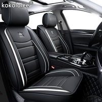 kokololee leather car seat cover For dongfeng ax7 mitsubishi pajero vw fox passat b4 b5 b5.5 b6 b7 b8 peugeot 4008 car set cover