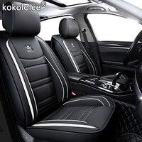 kokololee leather car seat cover For dongfeng ax7 mitsubishi pajero vw fox passat b4 b5 b5.5 b6 b7 b8 peugeot 4008 car set cover