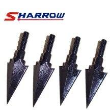 Sharrow 4 Pcs Traditional Arrowhead Screw in Arrow Shaft for Hunting Shooting Tip