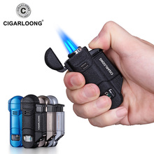 CIGARLOONG Cigar Lighter Portable 3 Torch Big firepower Windproof with Drill CB-0503