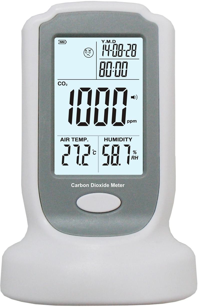 Промышленные Портативный детектор углекислого газа 0-2000ppm бренд точные непрерывный онлайн CO2 Обнаружения Тестер NDIR CO2 газа Сенсор