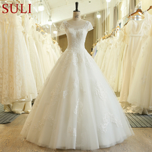 SuLi SL-3071 Charming A-Line Short Sleeve Wedding Dress