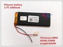 Bateria de Polímero Recarregável para I5 403282 1600 Mah 3.7 V de Lítio Recarregável Bateria para I5 Goophone Y5 V5 Clone Iphone