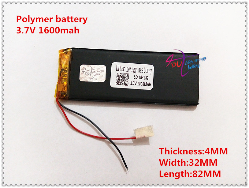 403282 1600mah 3 7V Lithium Polymer Battery Rechargeable Battery For Goophone I5 Y5 V5 Clone iPhone